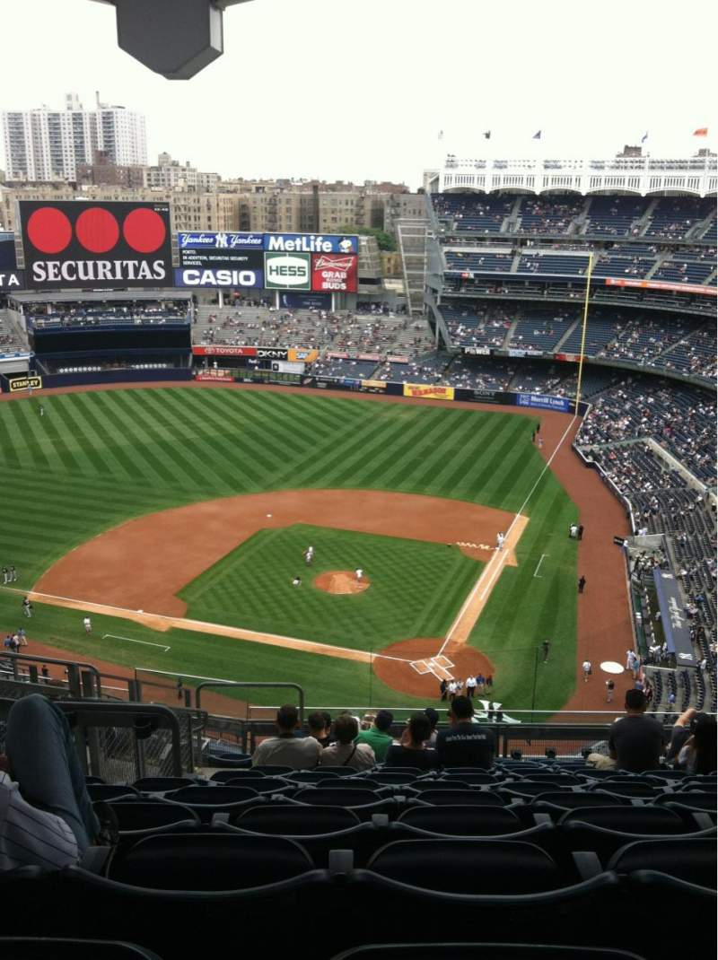 Seating view for Yankee Stadium Section 421 Row 12 Seat 23