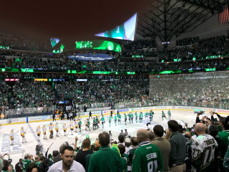 Seating view for American Airlines Center Section 108 Row R Seat 1