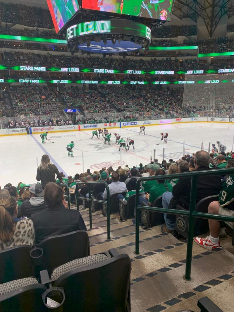 Seating view for American Airlines Center Section 108 Row R Seat 2