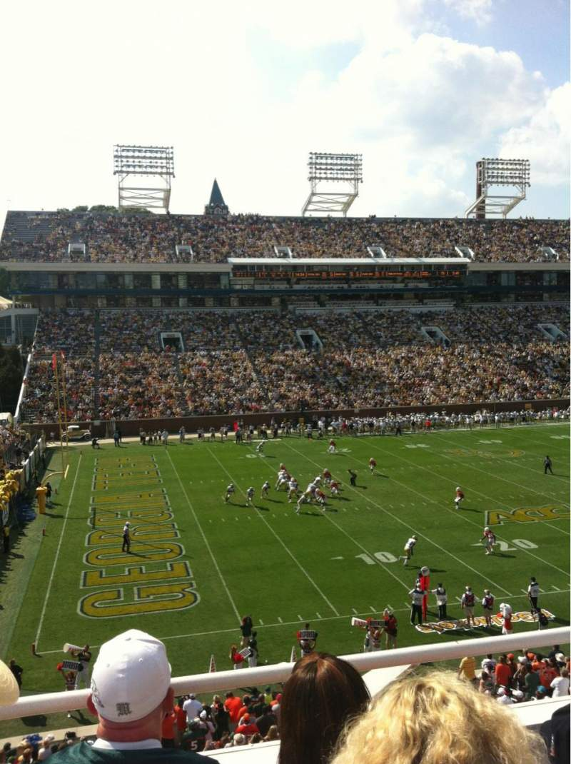 Seating view for Bobby Dodd Stadium Section 228 Row 3 Seat 8