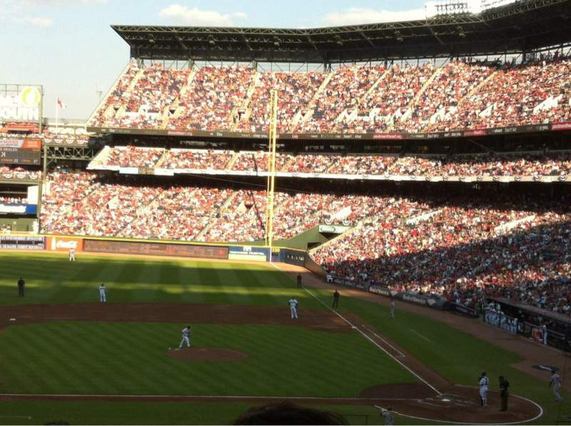 Seating view for Turner Field Section 208 Row 13 Seat 110