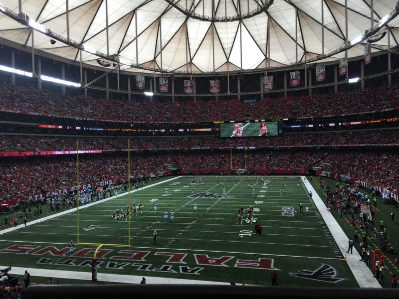 Seating view for Georgia Dome Section 233 Row 1 Seat 12