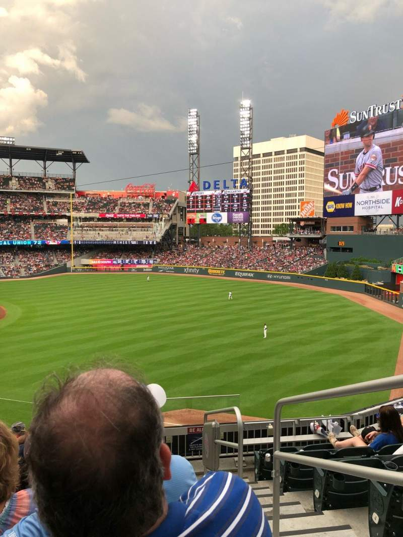 Seating view for SunTrust Park Section 213 Row 6 Seat 3