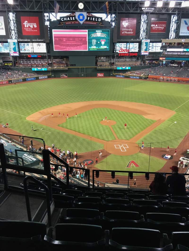 Seating view for Chase Field Section 317 Row 7 Seat 14