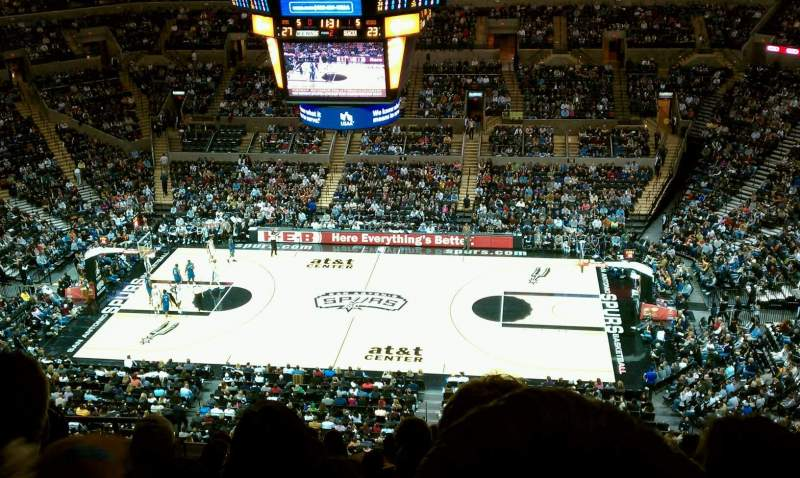 Seating view for AT&T Center Section 223 Row 9 Seat 9