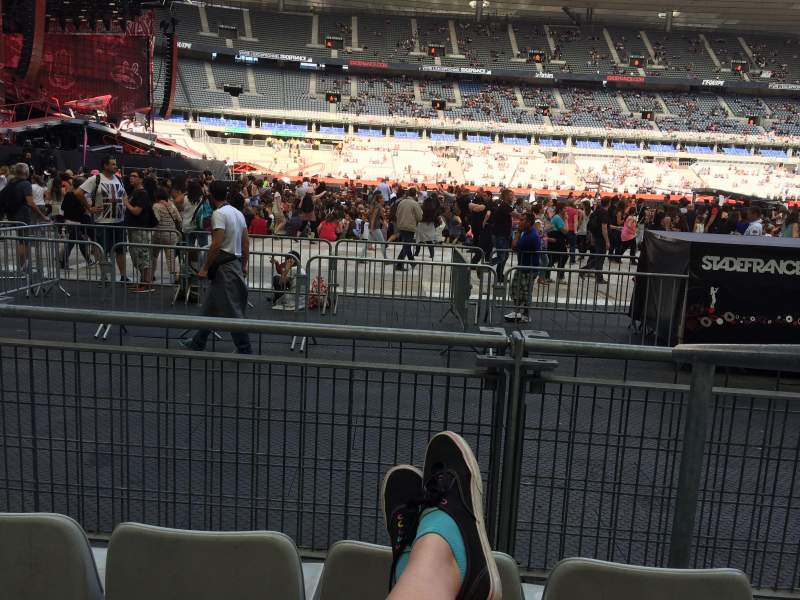 Seating view for Stade De France Section S7 Row 3 (front row Seat 18