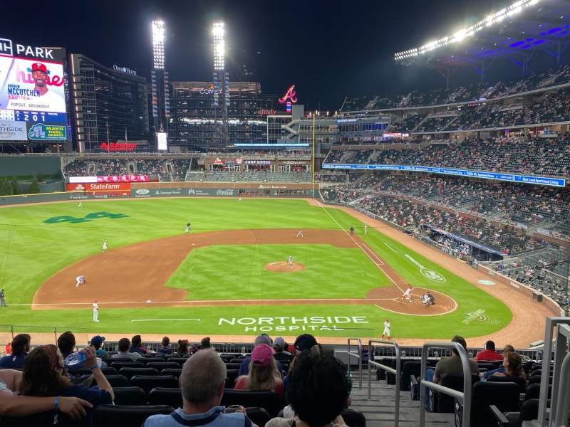 Seating view for Truist Park Section 231 Row 11 Seat 1