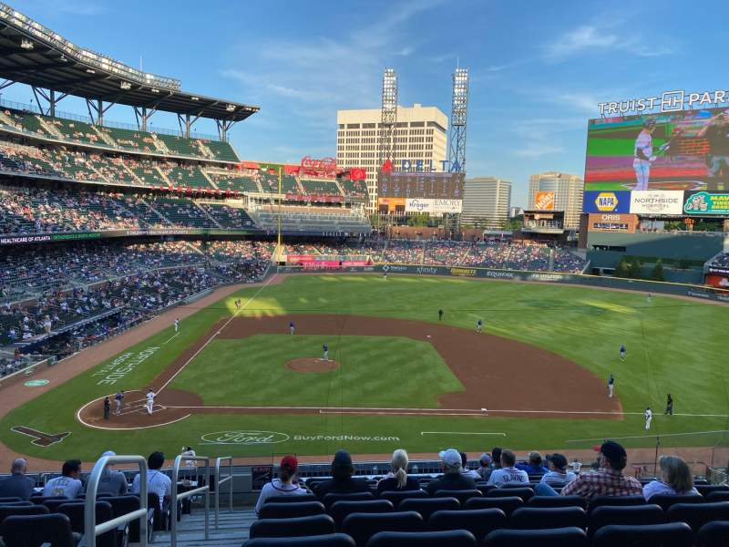 Seating view for Truist Park Section 220 Row 11 Seat 10