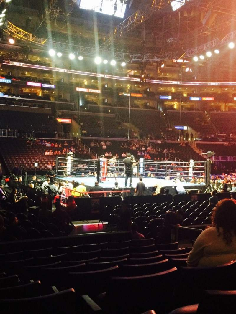Seating view for Staples Center Section 102 Row 9 Seat 8