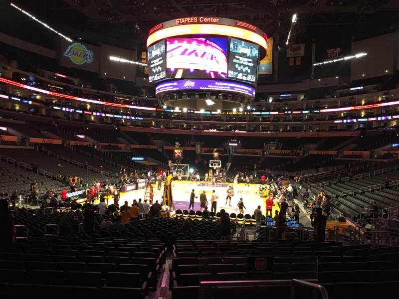 Seating view for Staples Center Section 115 Row 16 Seat 18