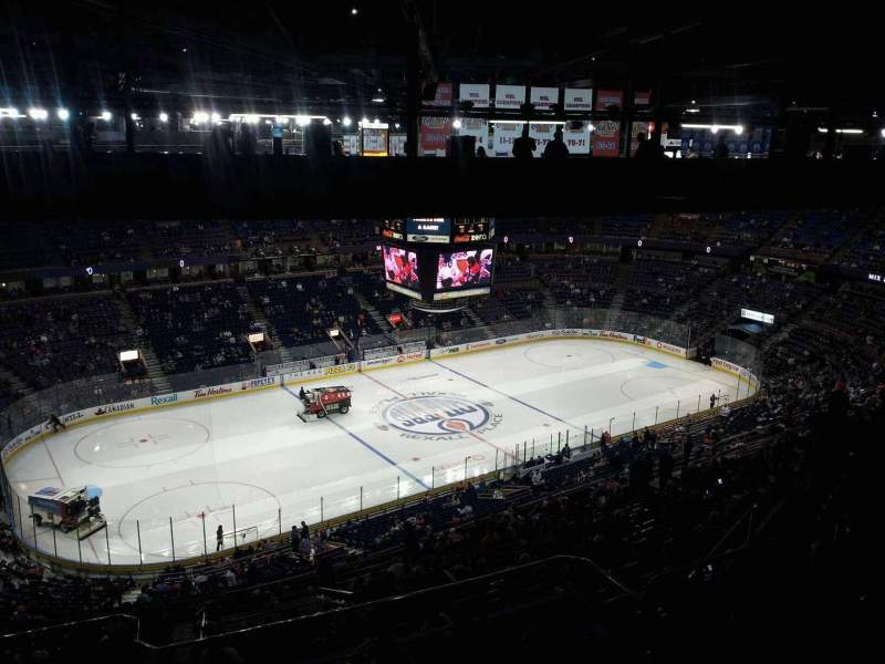 Seating view for Rexall Place Section 304 Row 48 Seat 15