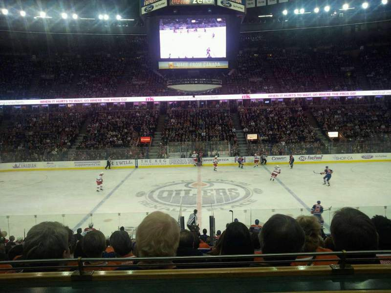 Seating view for Rexall Place Section executive suite 109 Row 1 Seat 10