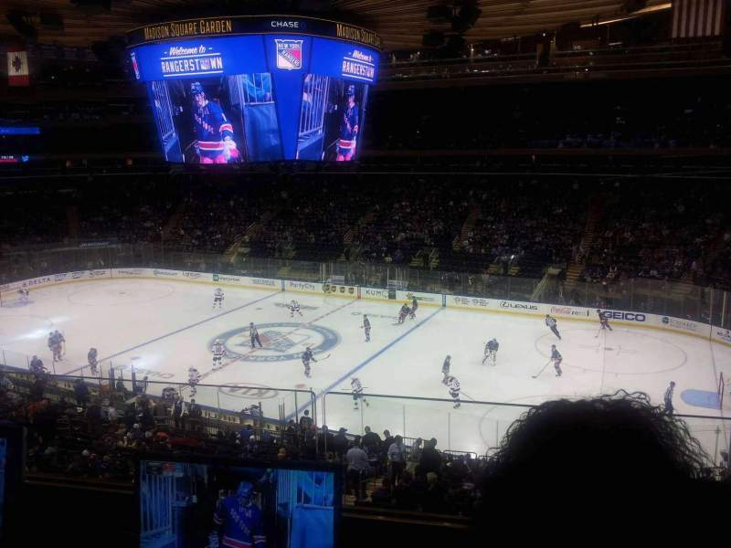 Seating view for Madison Square Garden Section 213 Row 2 Seat 12