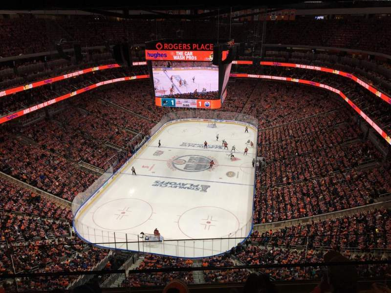 Seating view for Rogers Place Section Sky A Row 3 Seat 12