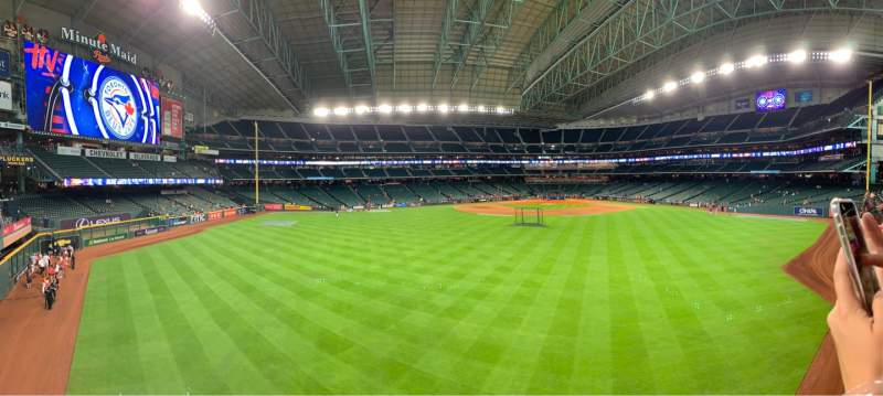 Seating view for Minute Maid Park Section Home Run Pump Deck