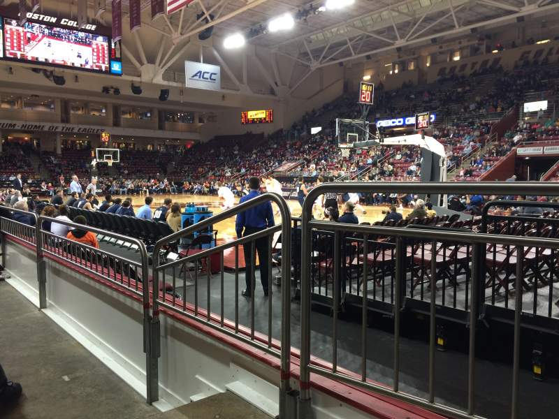 Seating view for Conte Forum Section I Row 2 Seat 8