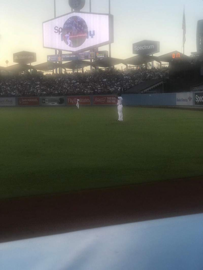 Seating view for Dodger Stadium Section 48FD Row AA Seat 1