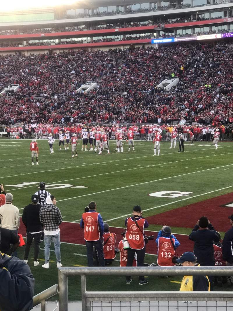 Seating view for Rose Bowl Section 8-H Row 8 Seat 102