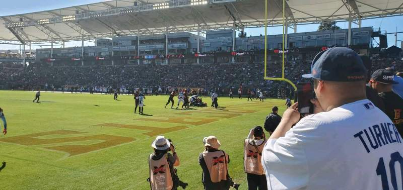 Seating view for Dignity Health Sports Park Section 124 Row A Seat 1