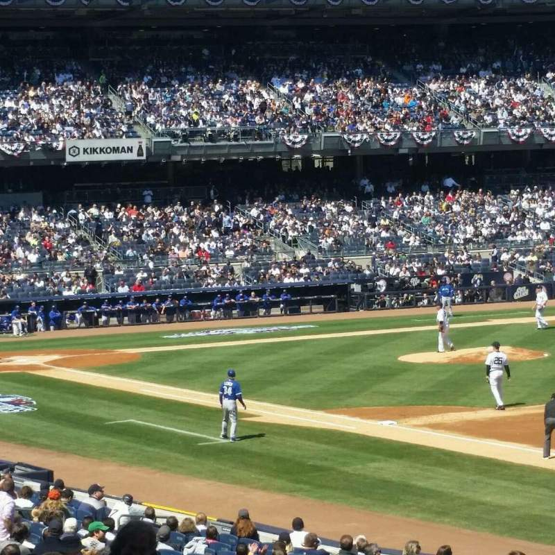 Seating view for Yankee Stadium Section 111 Row 26 Seat 16