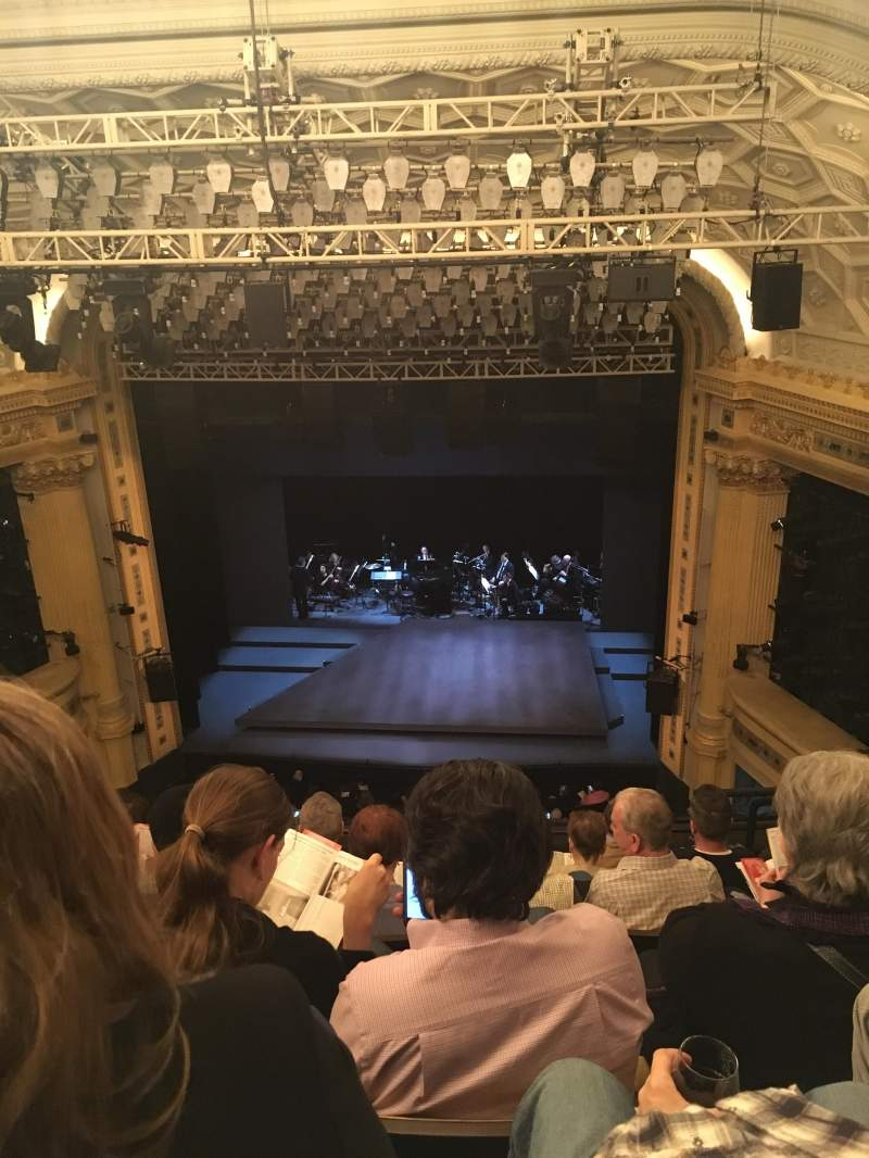 Seating view for Hudson Theatre Section Center Balcony Row G Seat 115