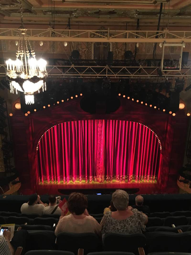 Seating view for Shubert Theatre Section Rear Center Balcony Row H Seat 109