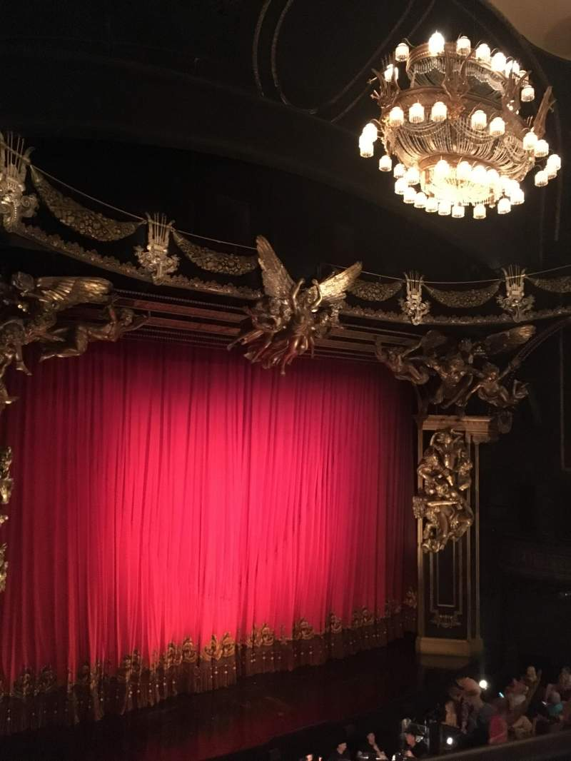 Seating view for Majestic Theatre Section Front Mezzanine L Row A Seat 15