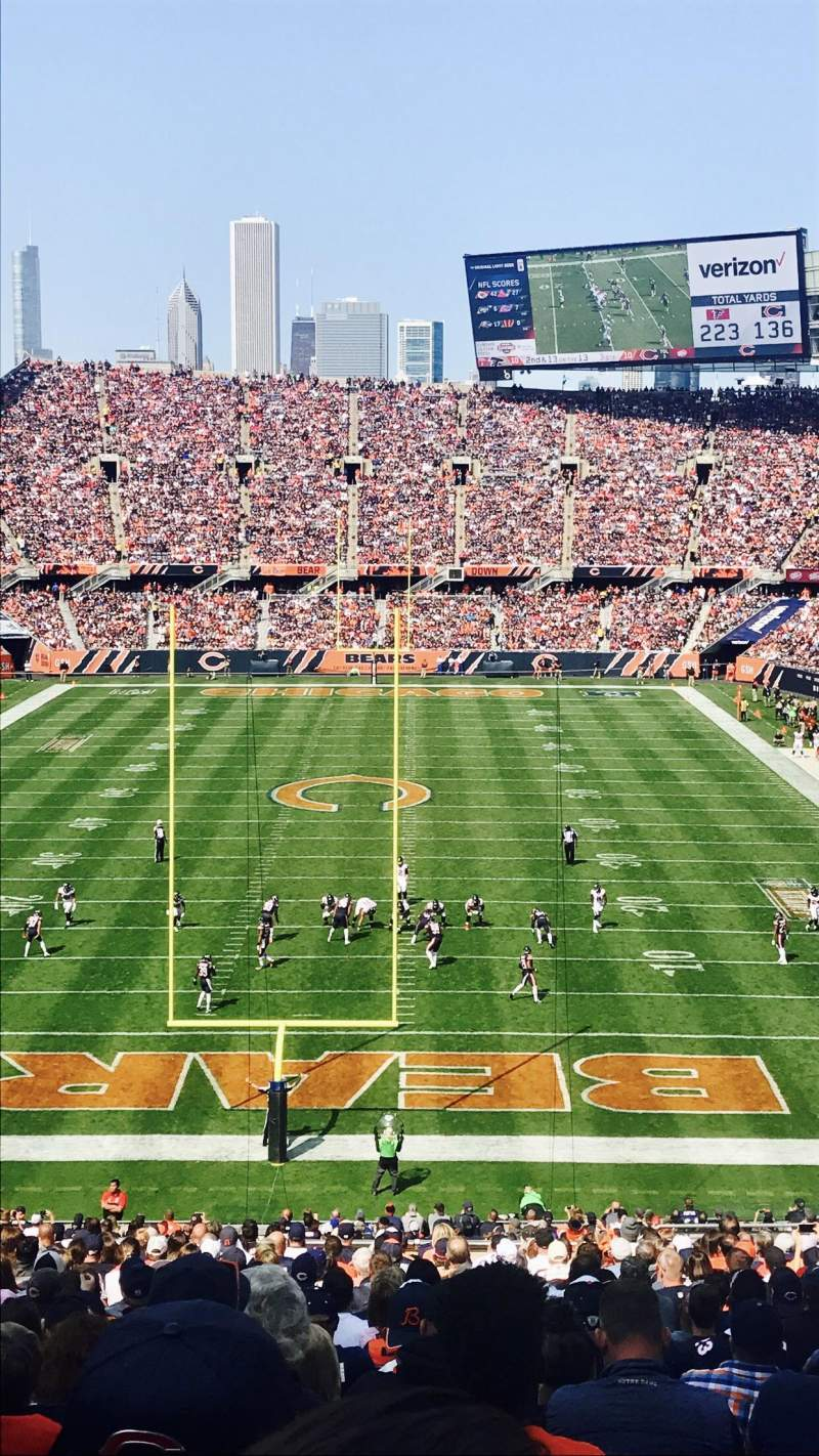 Seating view for Soldier Field Section 322 Row 3 Seat 14