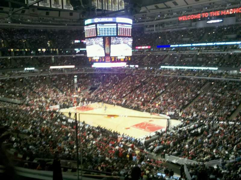 Seating view for United Center Section BMO Harris Club