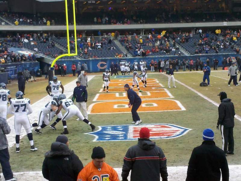 Seating view for Soldier Field Section 119 Row 18 Seat 3