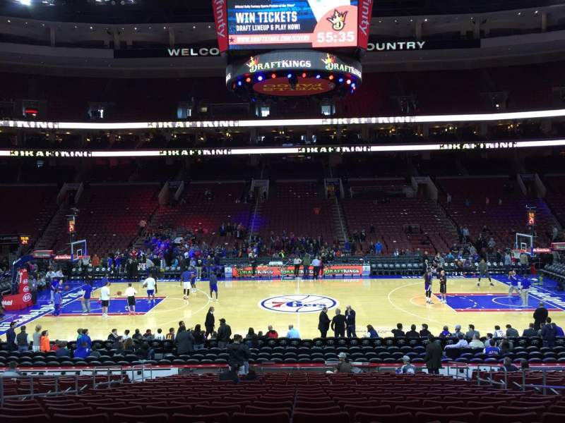 Seating view for Wells Fargo Center Section 113 Row 19 Seat 6