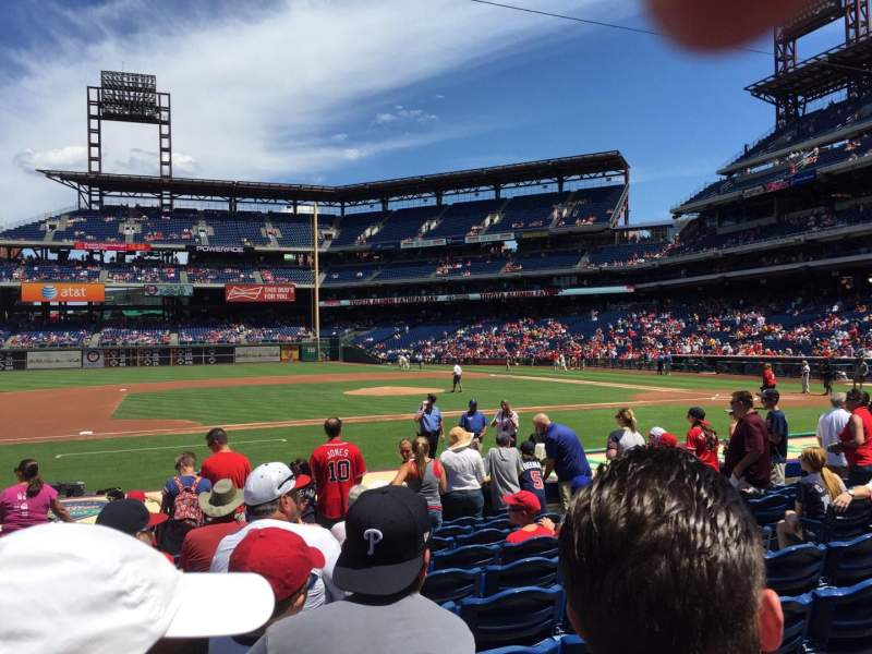 Seating view for Citizens Bank Park Section 131 Row 10 Seat 8