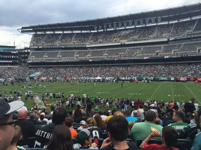 Seating view for Lincoln Financial Field Section 104