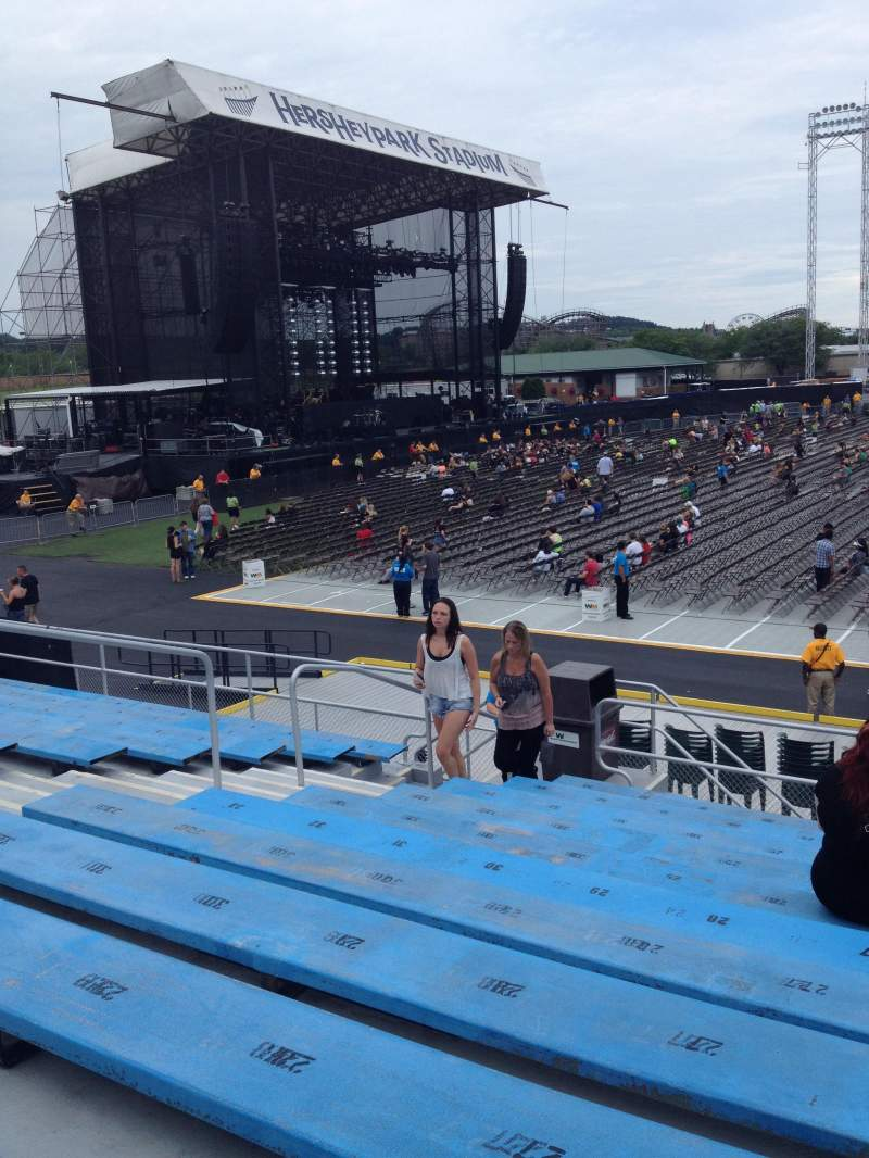 Seating view for Hershey Park Stadium Section 7 Row F Seat 25