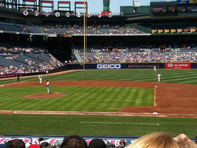 Seating view for Turner Field Section 113 Row 23 Seat 102