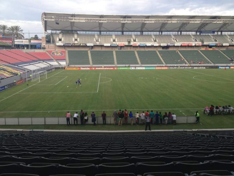 Seating view for Stubhub Center Section 114 Row X Seat 12