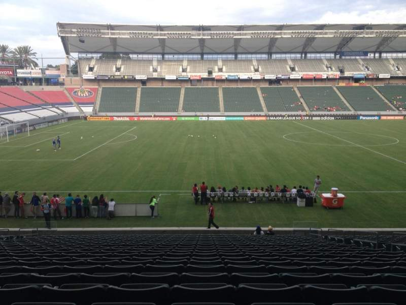 Seating view for Stubhub Center Section 113 Row X Seat 9