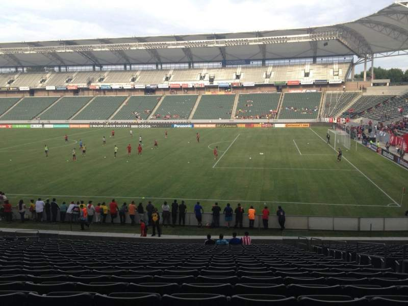 Seating view for Stubhub Center Section 107 Row X Seat 6