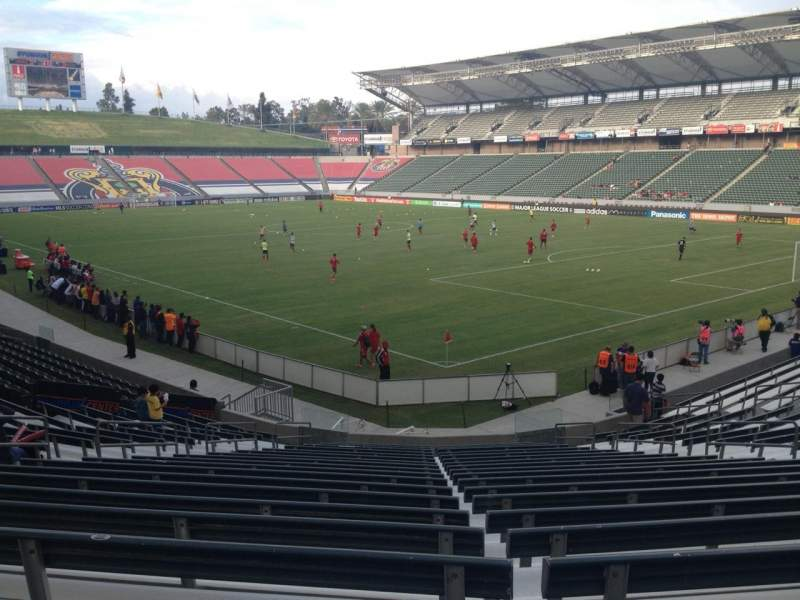 Seating view for Stubhub Center Section 105 Row V Seat 13