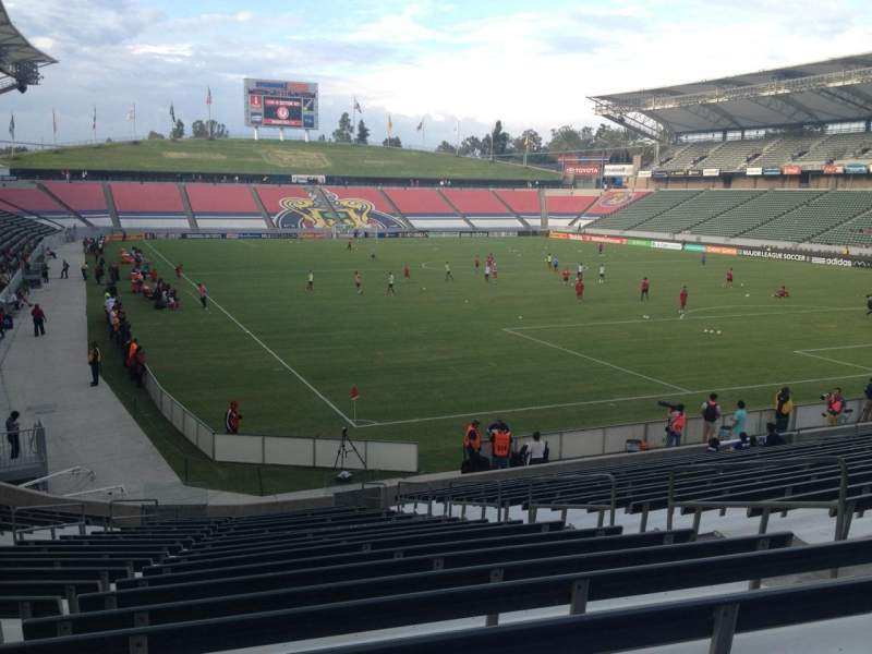 Seating view for Stubhub Center Section 104 Row V Seat 8
