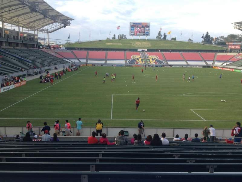 Seating view for Stubhub Center Section 102 Row U Seat 14