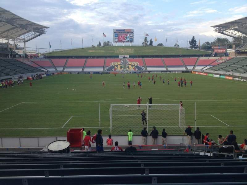 Seating view for Stubhub Center Section 101 Row T Seat 7