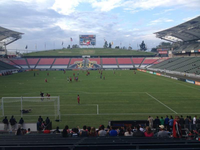 Seating view for Stubhub Center Section 142 Row U Seat 8