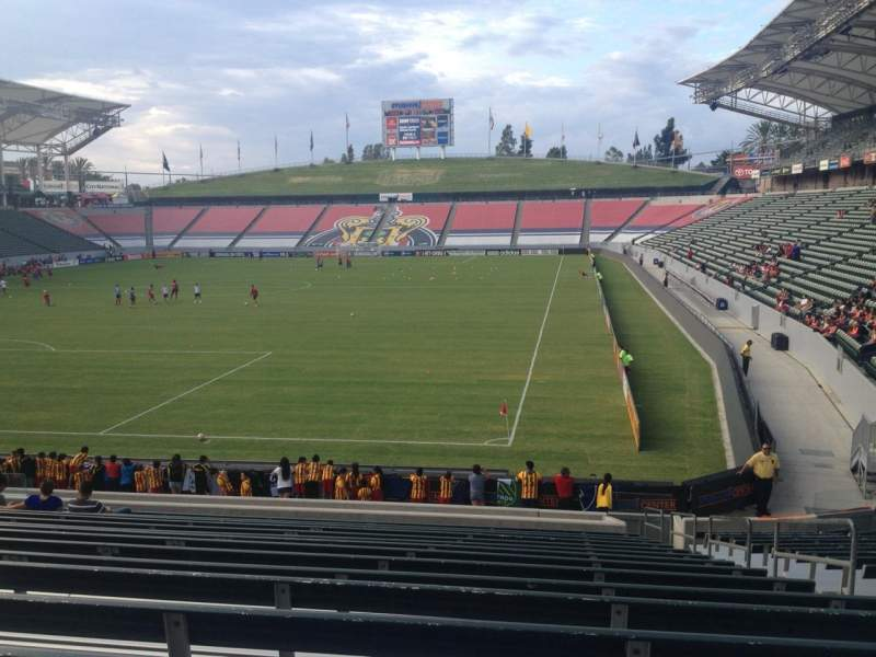 Seating view for Stubhub Center Section 140 Row U Seat 4