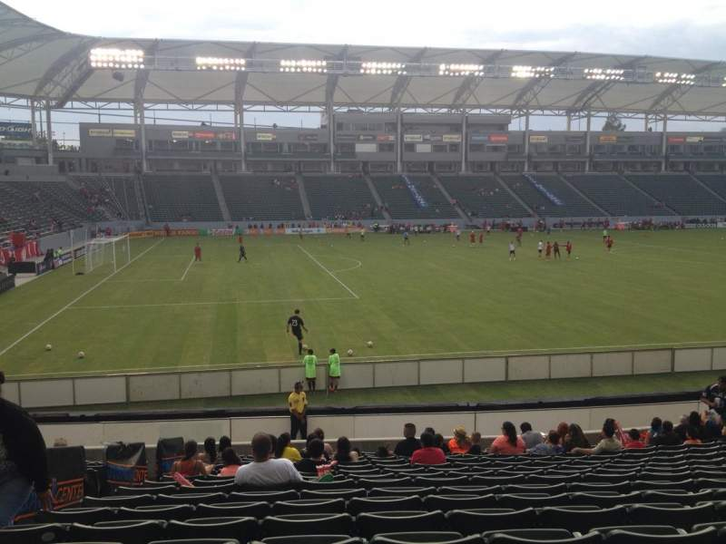 Seating view for Stubhub Center Section 135 Row T Seat 22