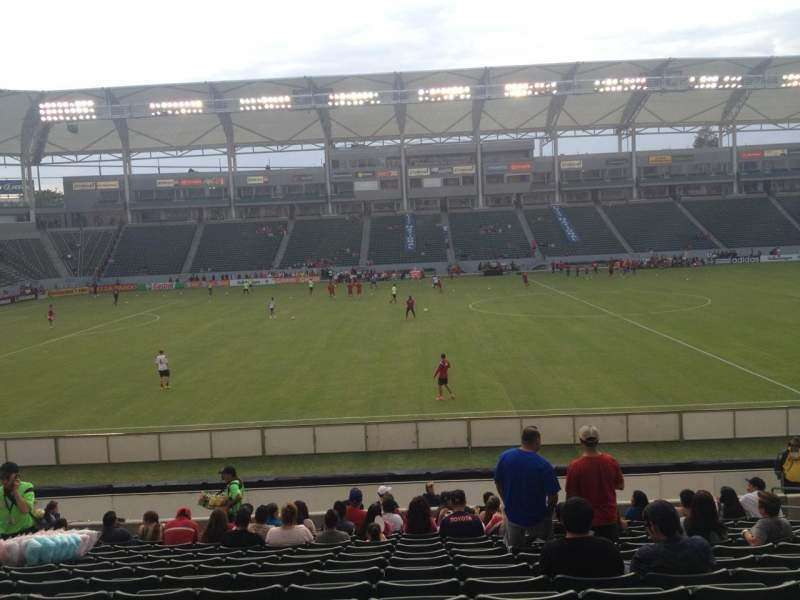 Seating view for Stubhub Center Section 133 Row R Seat 10