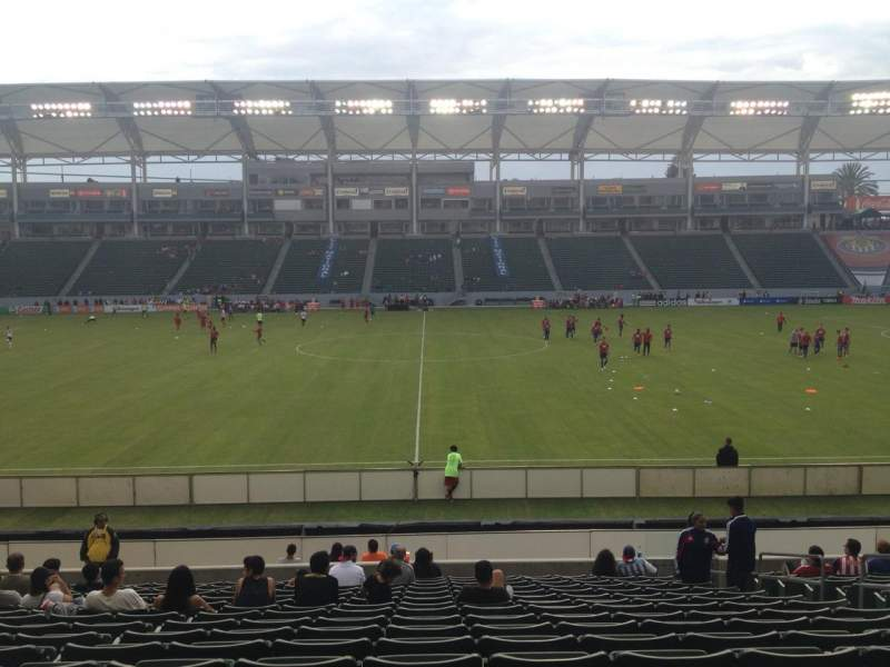 Seating view for Stubhub Center Section 132 Row S Seat 7