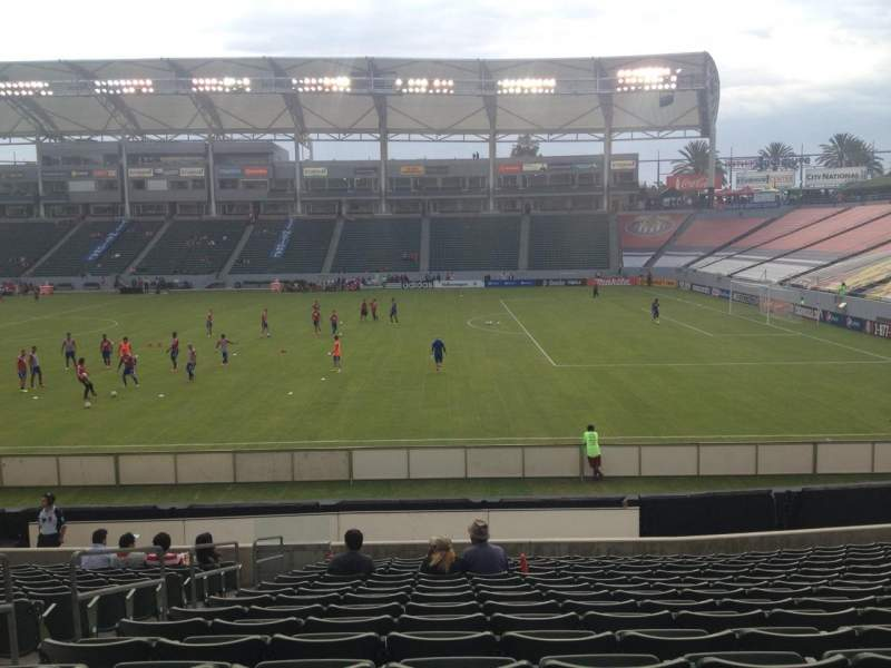 Seating view for Stubhub Center Section 129 Row R Seat 22