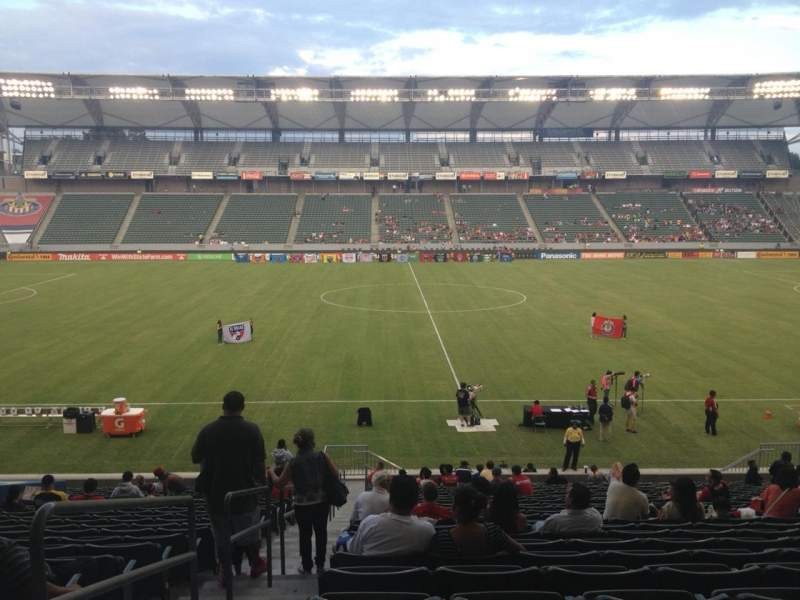 Seating view for StubHub Center Section 111 Row Z Seat 20