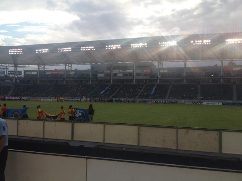Seating view for Stubhub Center Section 130 Row A Seat 1